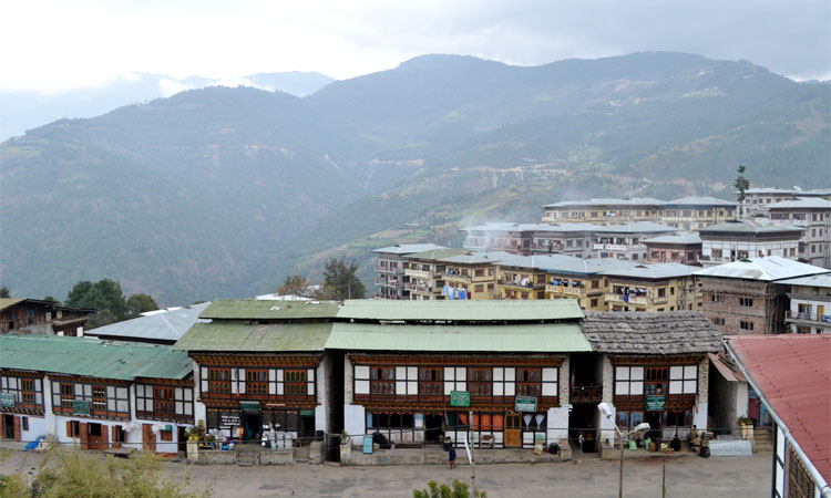 View of Mongar town