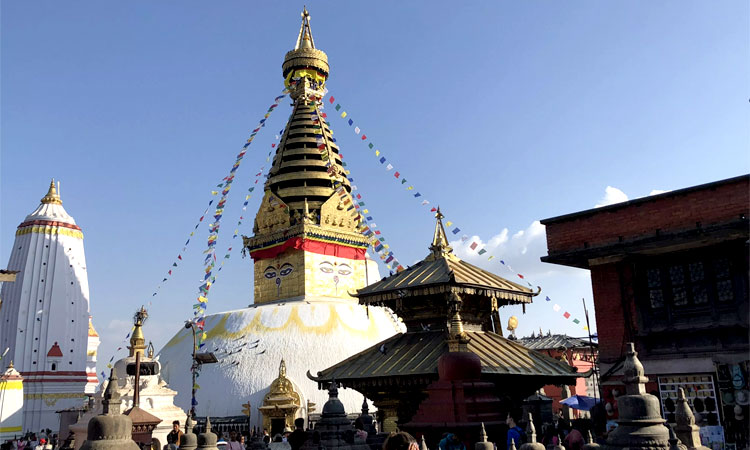 Swyambunath stupa